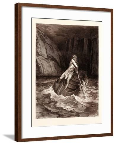 Charon-Gustave Dore-Framed Art Print
