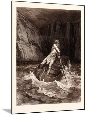 Charon-Gustave Dore-Mounted Giclee Print
