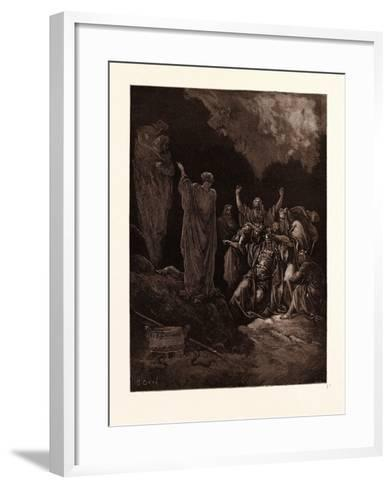 Saul and the Witch of Endor-Gustave Dore-Framed Art Print