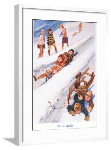 Fun in Canada-Gordon Frederick Browne-Framed Art Print