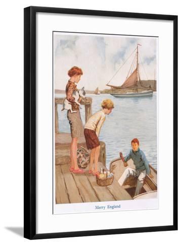 Merry England-Gordon Frederick Browne-Framed Art Print