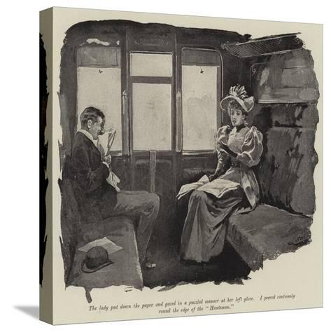 Illustration for Just a Short Story-Gordon Frederick Browne-Stretched Canvas Print