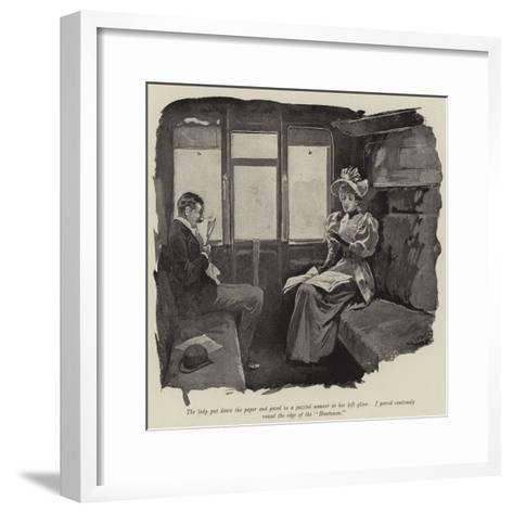 Illustration for Just a Short Story-Gordon Frederick Browne-Framed Art Print
