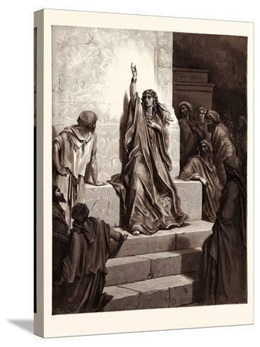 Deborah-Gustave Dore-Stretched Canvas Print