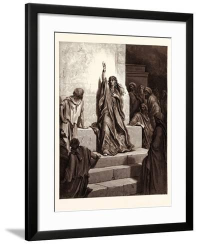 Deborah-Gustave Dore-Framed Art Print