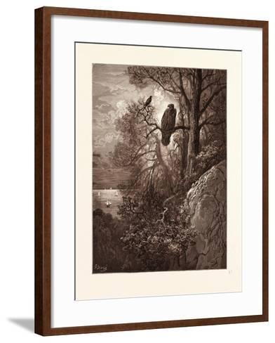 The Eagle and the Magpie-Gustave Dore-Framed Art Print