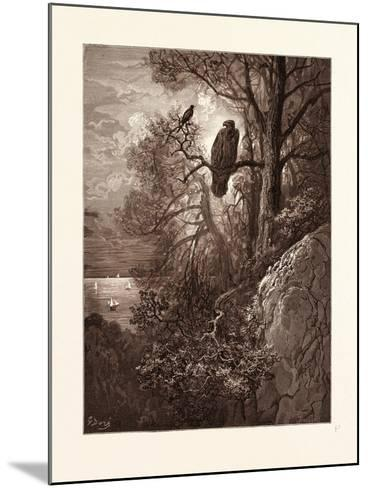 The Eagle and the Magpie-Gustave Dore-Mounted Giclee Print