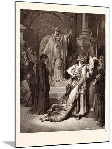 The Judgment of Solomon-Gustave Dore-Mounted Giclee Print