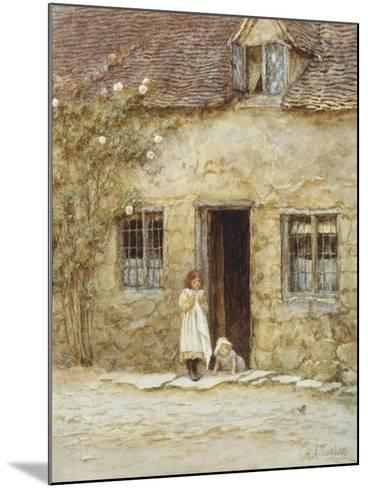 At the Cottage Door-Helen Allingham-Mounted Giclee Print