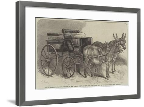 Pair of Donkeys in Harness Exhibited by Miss Burdett Coutts at the Mule and Donkey Show in the Agri-Harden Sidney Melville-Framed Art Print