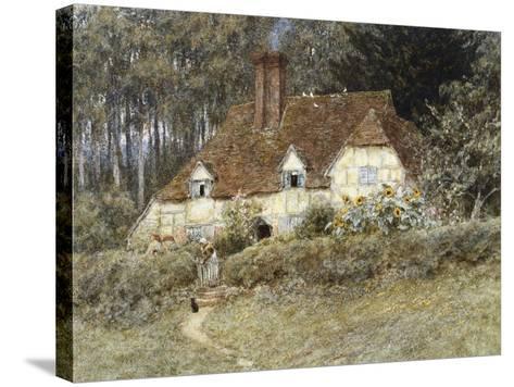 Old Surrey Cottage-Helen Allingham-Stretched Canvas Print