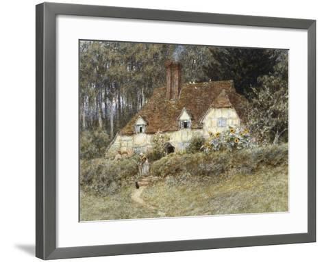 Old Surrey Cottage-Helen Allingham-Framed Art Print