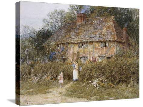 Old Surrey Cottage-Helen Allingham-Stretched Canvas Print