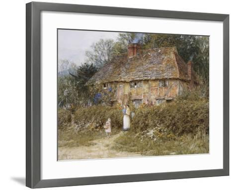 Old Surrey Cottage-Helen Allingham-Framed Art Print