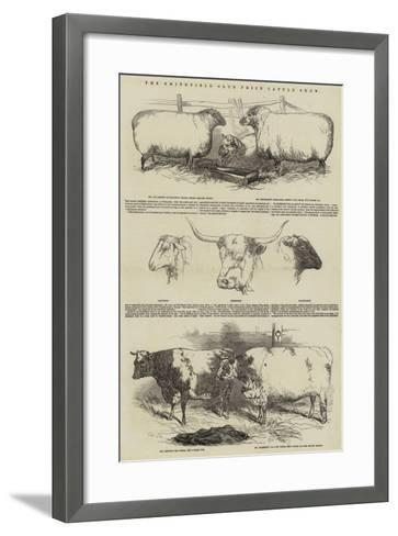 The Smithfield Club Prize Cattle Show-Harrison William Weir-Framed Art Print