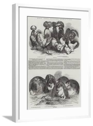 West Kent Poultry Exhibition-Harrison William Weir-Framed Art Print
