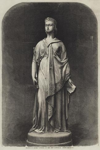 Statue of Queen Victoria in the New Townhall, Leeds-Harden Sidney Melville-Stretched Canvas Print