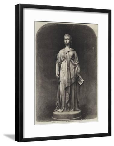 Statue of Queen Victoria in the New Townhall, Leeds-Harden Sidney Melville-Framed Art Print