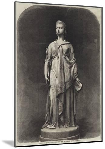 Statue of Queen Victoria in the New Townhall, Leeds-Harden Sidney Melville-Mounted Giclee Print