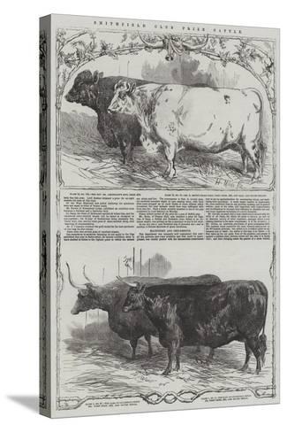 Smithfield Club Prize Cattle-Harrison William Weir-Stretched Canvas Print