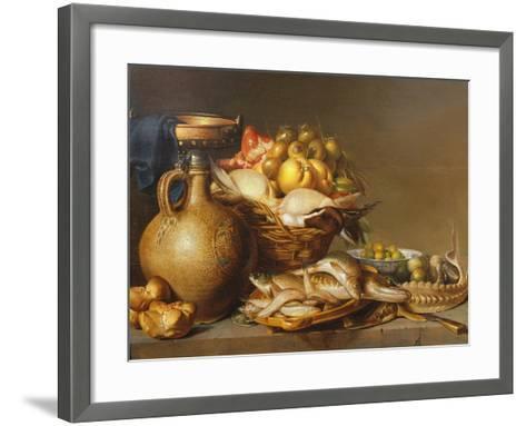 A Still Life of Fish and Other Food-Harmen van Steenwyck-Framed Art Print