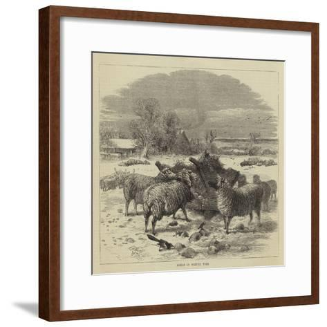 Sheep in Winter Time-Harrison William Weir-Framed Art Print