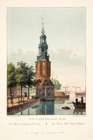 Vue D'Amsterdam No.32. De Mont Albans-Toren. La Tour Dite Mont-Alban, 1825-Hendrik Gerrit ten Cate-Stretched Canvas Print