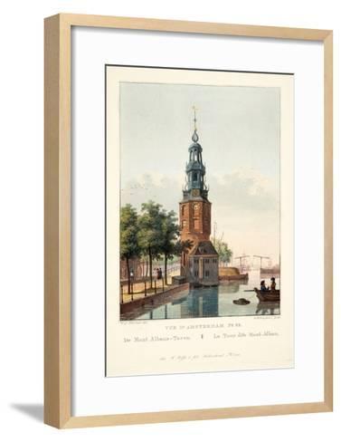 Vue D'Amsterdam No.32. De Mont Albans-Toren. La Tour Dite Mont-Alban, 1825-Hendrik Gerrit ten Cate-Framed Art Print