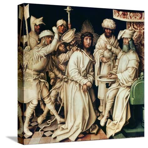 Pilate Washing His Hands, Left Panel from a Triptych, 1496-Hans Holbein the Elder-Stretched Canvas Print