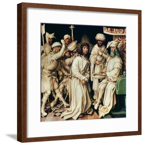 Pilate Washing His Hands, Left Panel from a Triptych, 1496-Hans Holbein the Elder-Framed Art Print