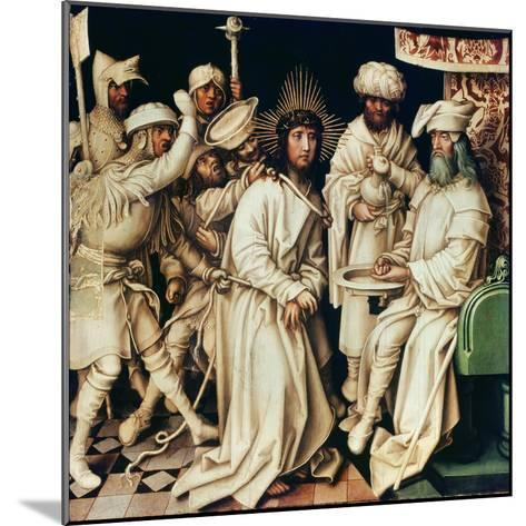 Pilate Washing His Hands, Left Panel from a Triptych, 1496-Hans Holbein the Elder-Mounted Giclee Print