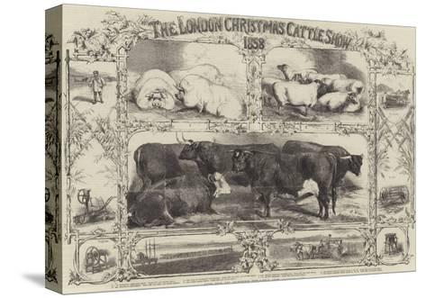 The London Christmas Cattle Show of 1858-Harrison William Weir-Stretched Canvas Print