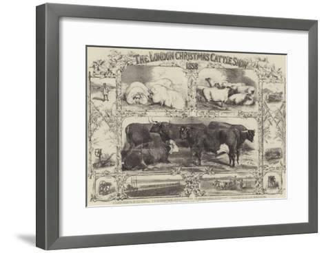 The London Christmas Cattle Show of 1858-Harrison William Weir-Framed Art Print