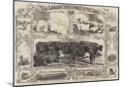 The London Christmas Cattle Show of 1858-Harrison William Weir-Mounted Giclee Print