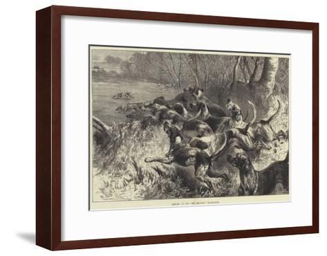 Hitting it Off, the Mid-Kent Staghounds-Harrison William Weir-Framed Art Print
