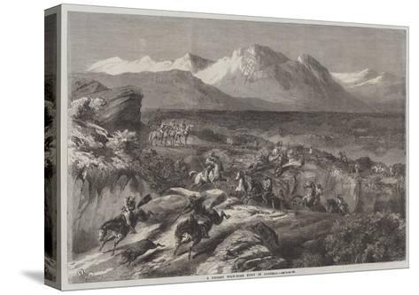A Recent Wild-Boar Hunt in Algeria-Harrison William Weir-Stretched Canvas Print
