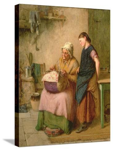 The Embroidery Lesson-Haynes King-Stretched Canvas Print