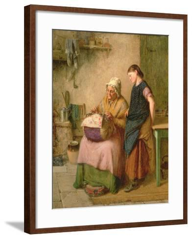 The Embroidery Lesson-Haynes King-Framed Art Print