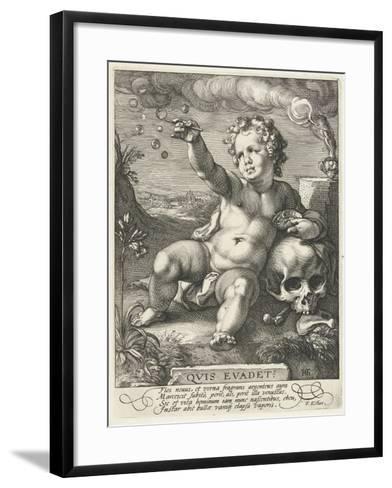 Homo Bulla, 1594-Hendrik Goltzius-Framed Art Print