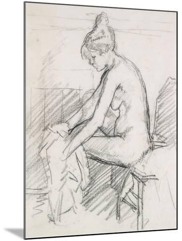Study of a Nude Female, Seated, Drying Her Right Foot-Harold Gilman-Mounted Giclee Print
