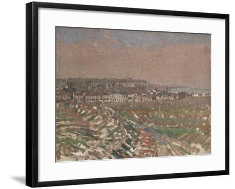 Dieppe from the West, 1910 - 1911-Harold Gilman-Framed Art Print