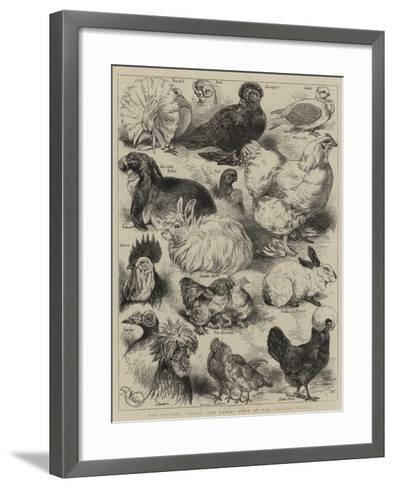 The Poultry, Pigeon, and Rabbit Show at the Crystal Palace-Harrison William Weir-Framed Art Print