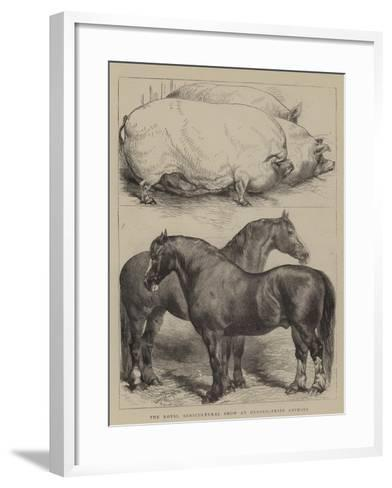 The Royal Agricultural Show at Oxford, Prize Animals-Harrison William Weir-Framed Art Print