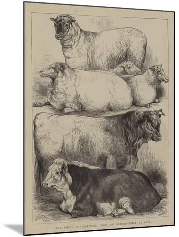 The Royal Agricultural Show at Oxford, Prize Animals-Harrison William Weir-Mounted Giclee Print