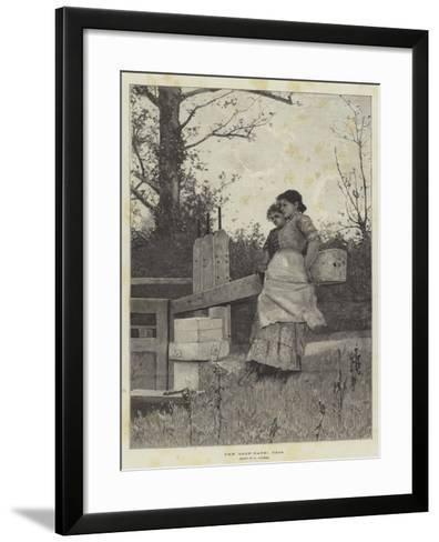 The Lock-Gate, Toil-Hector Caffieri-Framed Art Print