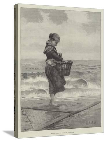 A Young Shrimper-Hector Caffieri-Stretched Canvas Print