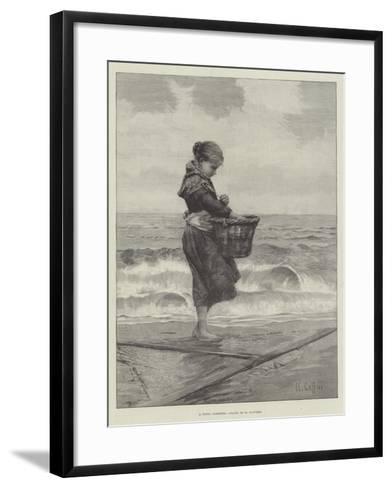 A Young Shrimper-Hector Caffieri-Framed Art Print