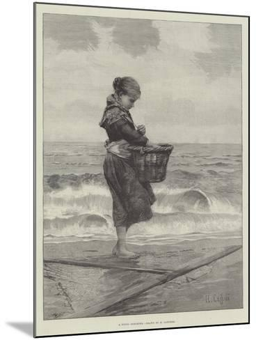 A Young Shrimper-Hector Caffieri-Mounted Giclee Print