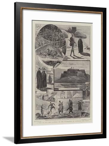 A Trip to Tuy and Valenca, on the Boundaries of Portugal and Spain-Henri Lanos-Framed Art Print