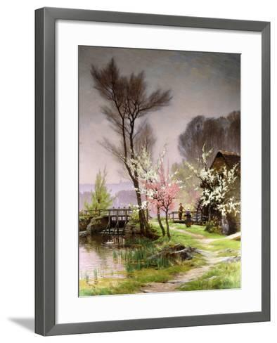 At the Watermill, Spring-Henri Saintain-Framed Art Print